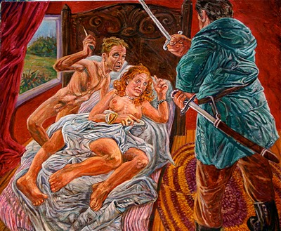 Painting by Art Rosenbaum